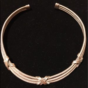 """Jewelry - Sterling Double Cable 16.8"""" Choker"""